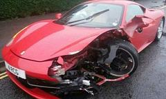mobile car cleaner crashes ferrari 458 italia