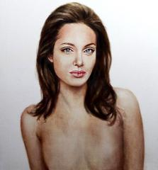 Angelina Jolie's Post-Mastectomy Topless Painting to Be Auctioned for Good Cause